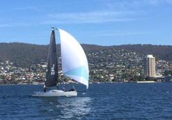 J/88 sailing Hobart, Tasmania