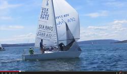 J/24 sailing J-Daze on Canandaigua Lake
