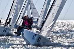 J/70 sailing upwind on Tampa Bay