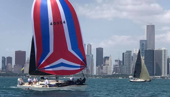 J/35 sailing off Chicago