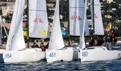 J/70s sailing team race at YC Monaco