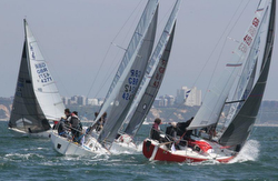 J/24s sailing British Nationals