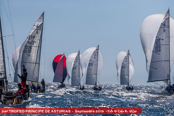 J/80s sailing under spinnakers off Spain