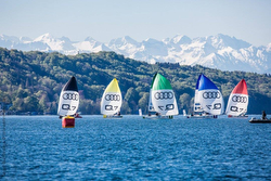 J/70s sailing German Sailing League- Starnberger See