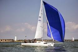 J/80 sailing Round Island Race off England