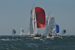 J/24s sailing European Championship off Crouesty de Arzon, France