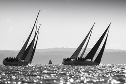 Sailing in Hamble Winter Series, England