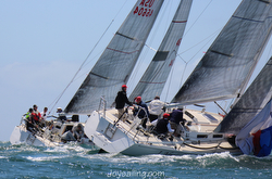 J/120s sailing Yachting Cup