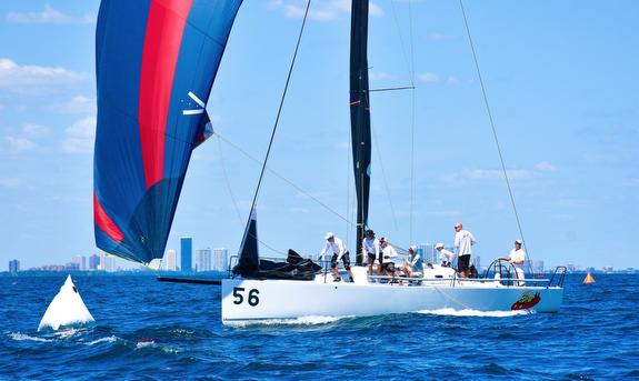 J/111 sailing off Chicago
