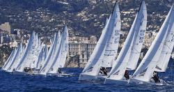 J/70s sailing off Monte Carlo, Monaco casino