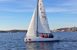 J/70 at US Coast Guard Academy, New London, CT