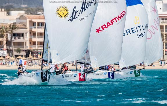 J/70s sailing fast, planing, off Palma Mallorca
