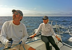 Wendell and Doc sailing J/88 Crazy 88