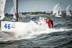 J/70 planing downwind at Worlds in Newport