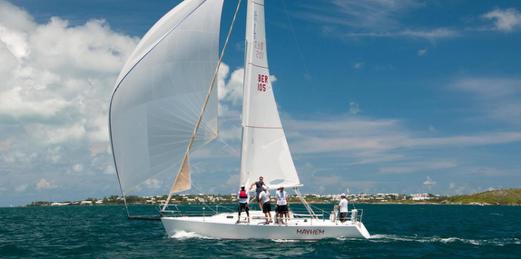 J/105 sailing off Bermuda