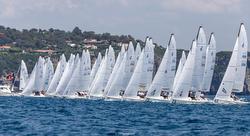 J/70s sailing off Porto Ercole, Italy
