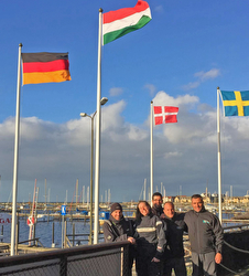 J/24 Hungary team at Malmo Segelskapp yacht club