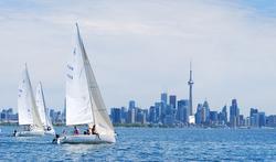 J/80 sailing off Toronto, Ontario