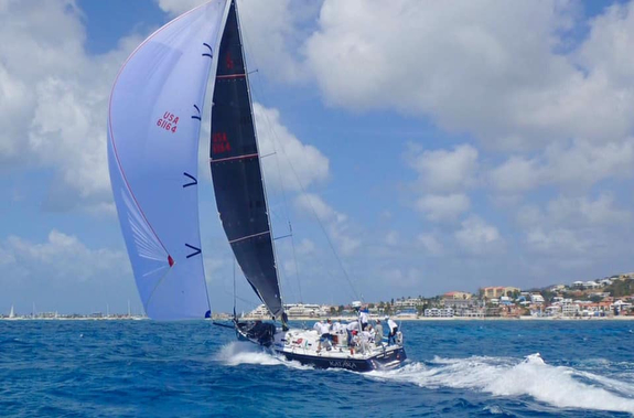 J/145 sailing off St Maarten