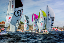 J/70 sailing at St Petersburg, Russia in Sailing Champions League