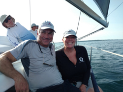 Richie & Lori Stearns sailing J/109 TOA