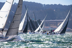 J/105s sailing Rolex San Francisco Bay