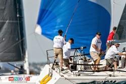 J/120 crew sailing NOOD off San Diego, CA