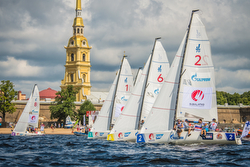 J70s sailing off St Petersburg, Russia