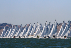 J/70s sail off start at Worlds