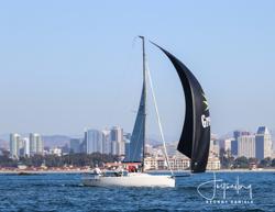 J/70 sailing Hot Rum series off San Diego