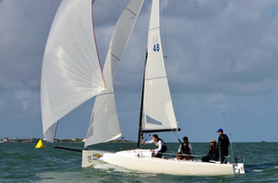 J/70 Flojito Y Cooperando sailing Mexican Nationals off Cancun