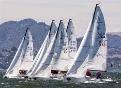 J/70s sailing Rolex Big Boat Series on San Francisco Bay