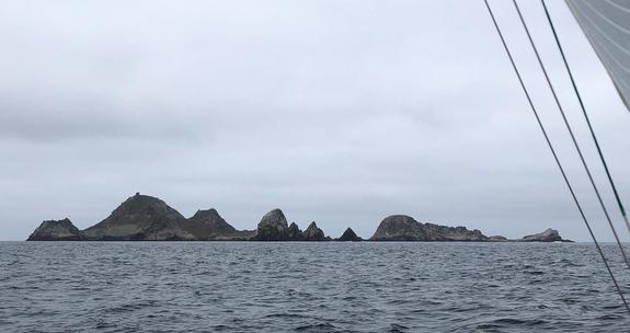 Farallones Rocks off to leeward