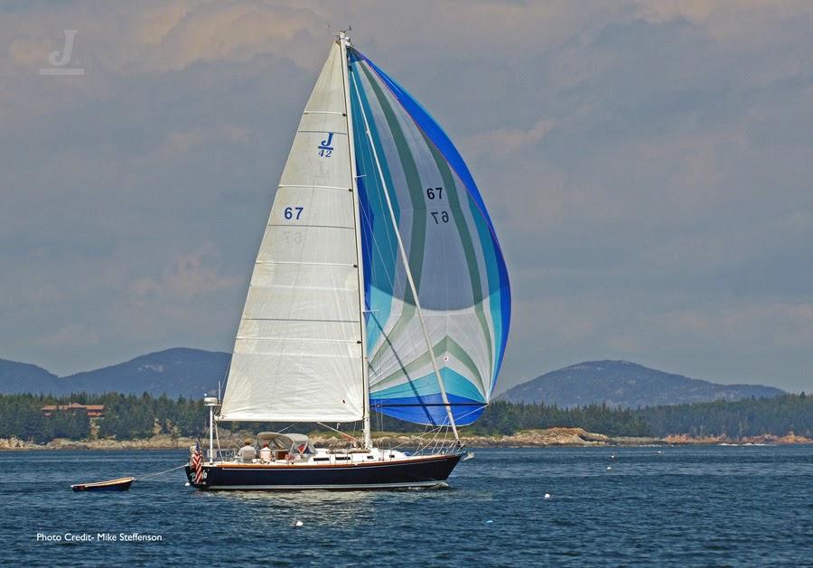 J/42 sailing Penobscot Bay