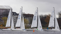 J/70s sailing on Lake Alster, Hamburg, Germany