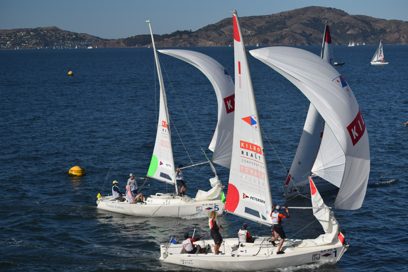 J/22s match racing San Francisco