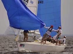 J/24 sailboat- sailing Marblehead NOOD regatta