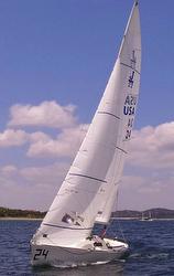 J/22 sailing in Texas