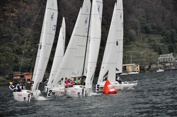 J/70s sailing Swiss Sailing League