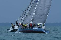 J/120 sailing Bayview Mac race