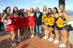 Stanford and Cal cheerleaders- at The Big Sail