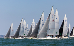 J/105s sailing Rolex Big Boat Series- San Francisco