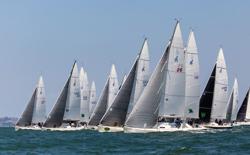 J/105s sailing Rolex Big Boat Series- San Francisco