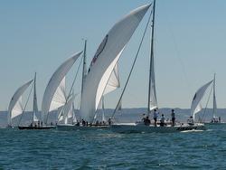 J/105s sailing off San Diego, CA