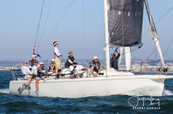 J/120 sailing Hot Rum Series- San Diego, CA