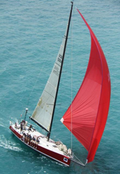 J/145 sailing Chicago to Mackinac Race