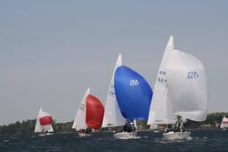 J/24 sailboats- sailing Easter Regatta