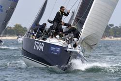 J/109 sailing off Cowes, England