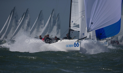 J/70s sailing Worlds in San Francisco Bay