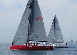 J/122 sailing Chicago Mackinac Race